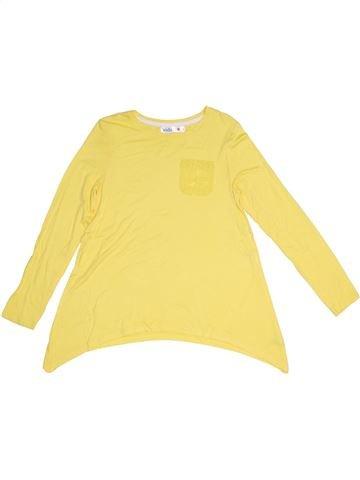 T-shirt manches longues fille M&CO jaune 9 ans hiver #1291298_1