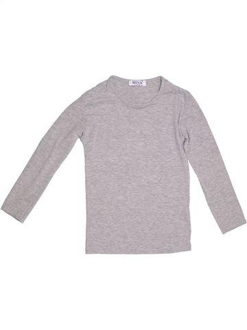 T-shirt manches longues fille MINX gris 10 ans hiver #1291544_1