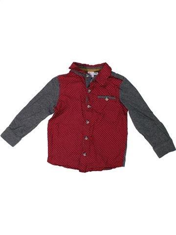 Chemise manches longues garçon MINI CLUB marron 2 ans hiver #1292250_1