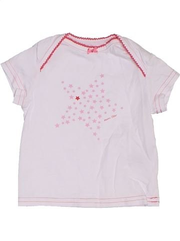 T-shirt manches courtes fille TCM blanc 6 mois été #1295246_1