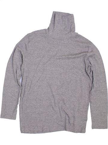 Camiseta de cuello alto niño VERTBAUDET gris 12 años invierno #1297176_1