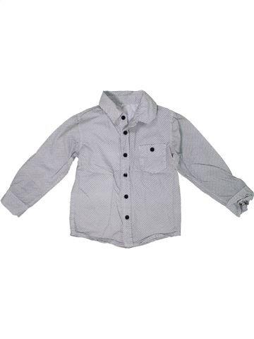 Camisa de manga larga niño SANS MARQUE gris 4 años invierno #1297374_1