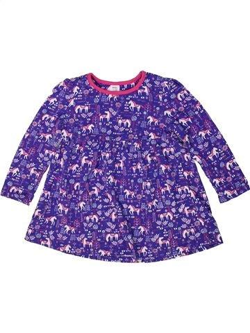 Robe fille MINI CLUB violet 2 ans été #1297382_1