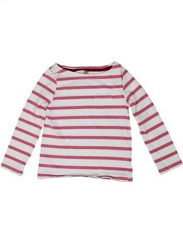 T-shirt manches longues fille JOHN LEWIS blanc 5 ans hiver #1297405_1