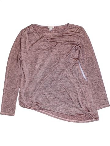 T-shirt manches longues fille RIVER ISLAND rose 12 ans hiver #1297449_1