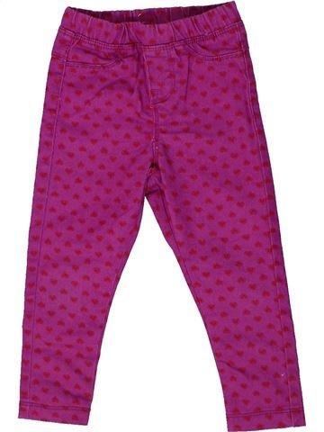 Pantalon fille PEP&CO violet 4 ans hiver #1298038_1