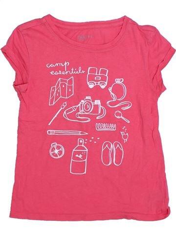 Camiseta de manga corta niña GAP rosa 7 años verano #1298361_1