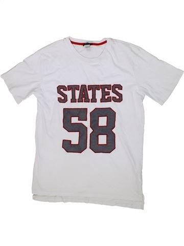 T-shirt manches courtes garçon RIVER ISLAND blanc 12 ans été #1298911_1