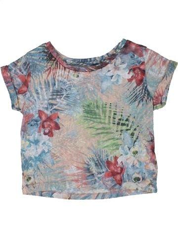 T-shirt manches courtes fille M&CO gris 5 ans été #1299645_1