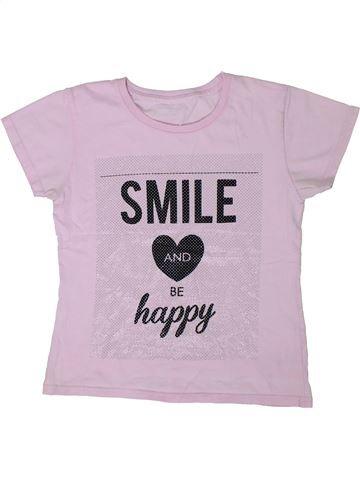 Camiseta de manga corta niña SANS MARQUE rosa 10 años verano #1300028_1