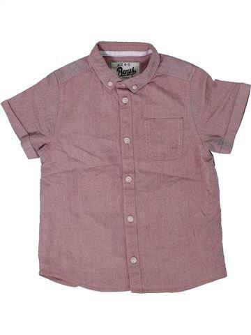 Chemise manches courtes garçon BOYS violet 5 ans été #1300156_1