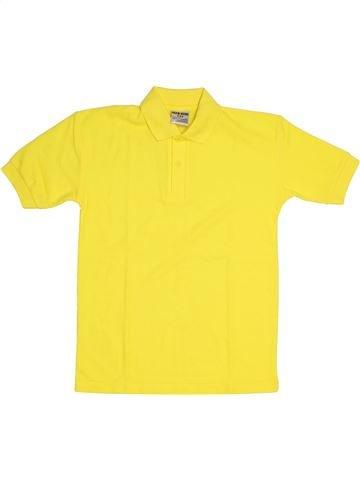 Polo de manga corta niño JERZEES amarillo 8 años verano #1300222_1