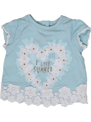 Camiseta de manga corta niña F&F azul 1 mes verano #1300386_1