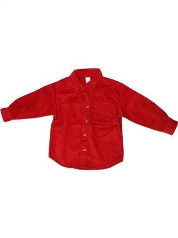 Chemise manches longues garçon ADAMS rouge 3 ans hiver #1300600_1
