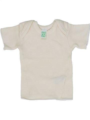 T-shirt manches courtes unisexe PRENATAL blanc 1 mois été #1300872_1
