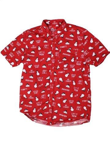 Chemise manches courtes garçon PRIMARK rouge 13 ans été #1301058_1