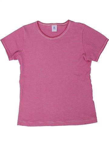 T-shirt manches courtes fille PETIT BATEAU rose 10 ans été #1301530_1