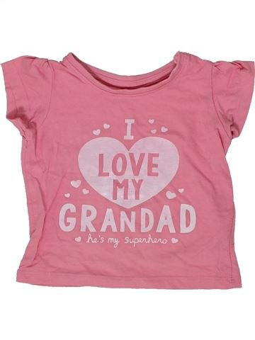 Camiseta de manga corta niña PRIMARK rosa 12 meses verano #1302307_1