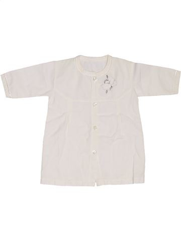 Blusa de manga corta niña SANS MARQUE blanco 12 meses verano #1302592_1
