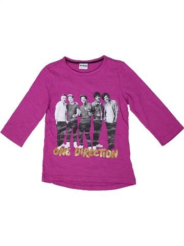 T-shirt manches longues fille ONE DIRECTION rose 8 ans hiver #1302602_1