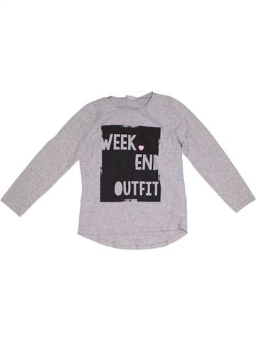 T-shirt manches longues fille I LOVE GIRLSWEAR gris 8 ans hiver #1302665_1