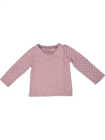 Camiseta de manga larga niña TU rosa 12 meses invierno #1302708_1
