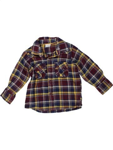 Chemise manches longues garçon MINI CLUB marron 2 ans hiver #1302860_1