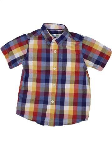 Chemise manches courtes garçon M&CO violet 3 ans été #1302972_1