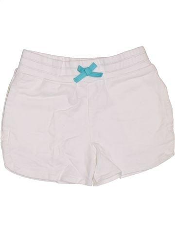 Short - Bermuda fille GEORGE blanc 5 ans été #1303009_1