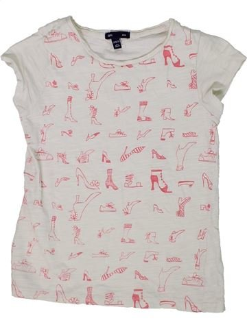 Camiseta de manga corta niña GAP blanco 7 años verano #1303025_1