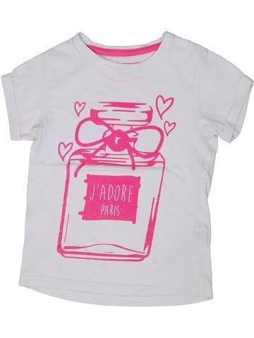 Camiseta de manga corta niña PRIMARK blanco 9 años verano #1303300_1