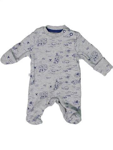 Pyjama 1 pièce garçon F&F gris prématuré été #1303421_1