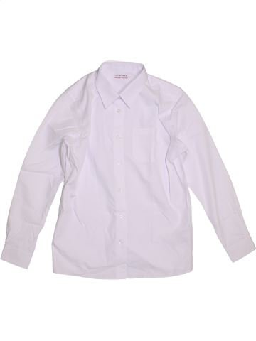 Chemise manches longues garçon MARKS & SPENCER blanc 13 ans hiver #1303738_1