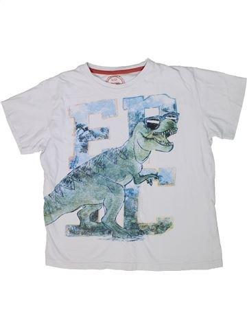 T-shirt manches courtes garçon MATALAN blanc 13 ans été #1303882_1