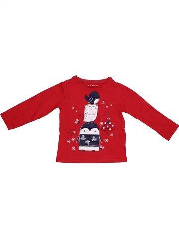 T-shirt manches longues garçon NUTMEG rouge 3 ans hiver #1304001_1