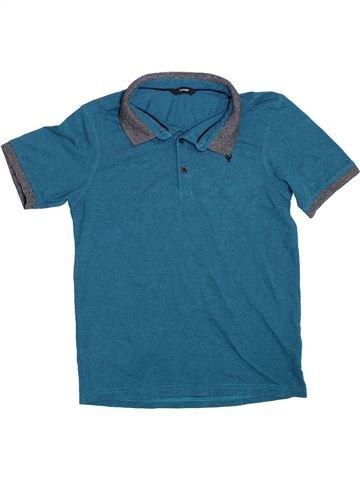 Polo de manga corta niño GEORGE azul 13 años verano #1304231_1