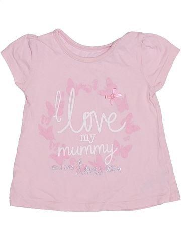 Camiseta de manga corta niña GEORGE rosa 9 meses verano #1304236_1