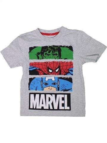 T-shirt manches courtes garçon SUPERS HÉROS gris 8 ans été #1304334_1