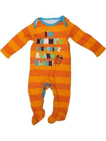 Pyjama 1 pièce garçon MINI CLUB orange 9 mois été #1304421_1