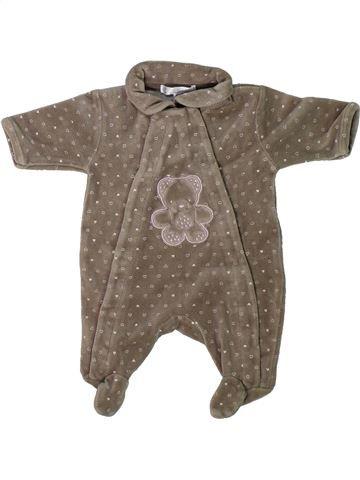 Pyjama 1 pièce fille KIABI marron naissance hiver #1304704_1