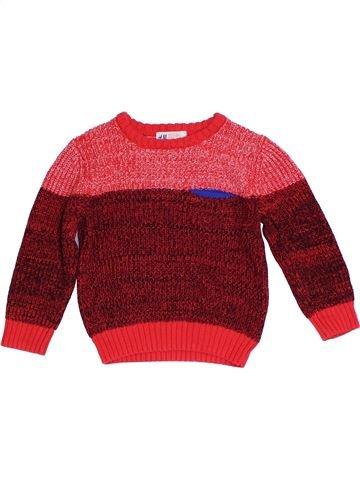 jersey niño H&M rojo 4 años invierno #1304962_1
