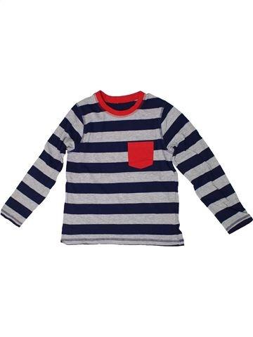T-shirt manches longues garçon GEORGE gris 8 ans hiver #1304975_1