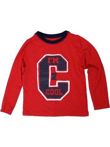 T-shirt manches longues garçon GEORGE rouge 8 ans hiver #1304985_1
