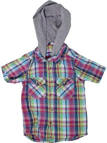 Chemise manches courtes garçon GEORGE gris 5 ans été #1305014_1