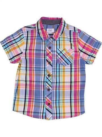 Chemise manches courtes garçon F&F violet 2 ans été #1305155_1