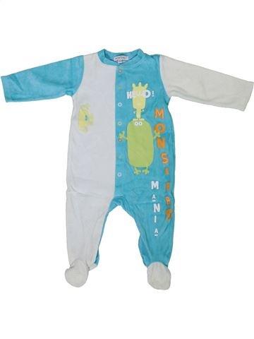 Pyjama 1 pièce garçon IN EXTENSO bleu 9 mois hiver #1305163_1