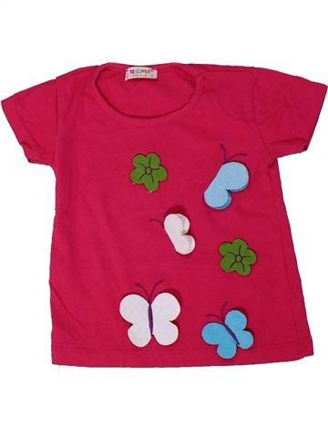 T-shirt manches courtes fille REMI KIDS CLUB rouge 12 mois été #1305170_1