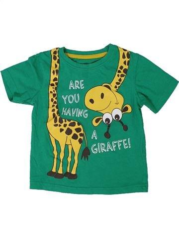 T-shirt manches courtes garçon PEP&CO vert 4 ans été #1305276_1