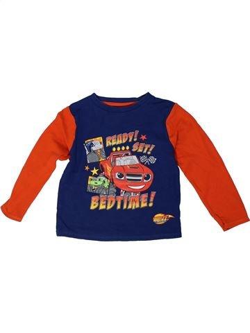 T-shirt manches longues garçon GEORGE orange 5 ans hiver #1305282_1