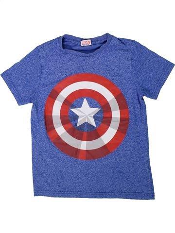 T-shirt manches courtes garçon SUPERS HÉROS bleu 8 ans été #1305384_1